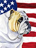 Caroline's Treasures LH9018CHF USA American Flag with English Bulldog Flag Canvas, Large, Multicolor Review