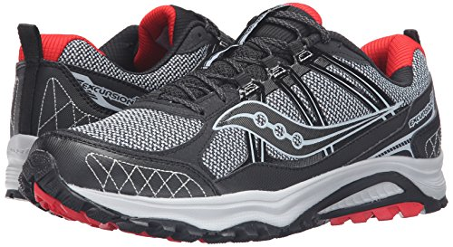 Saucony Men's Grid Excursion TR10 Running Shoe, Grey/Black/Red, 8.5 M US by Saucony (Image #6)