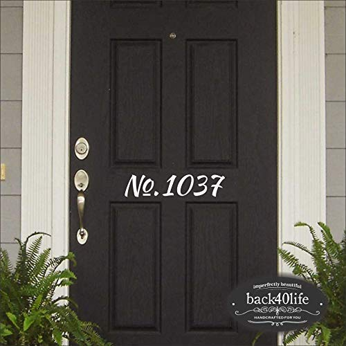Back40life House Number Door Decal E-002b