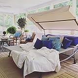 Abba Patio Outdoor Portable Double Chaise Lounge