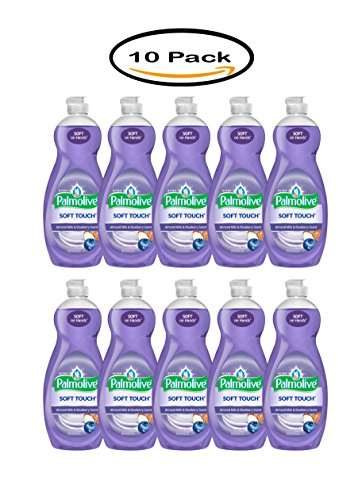Pack of 10 - Palmolive Ultra Soft Touch Dish Soap, Almond Milk and Blueberry - 32.5 fl oz by Palmolive
