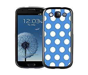 Element Samsung Galaxy S3 Black Case I9300 Durable Soft Silicone TPU Polka Dot Blue and White Speck Cell Phone Case Cover hjbrhga1544