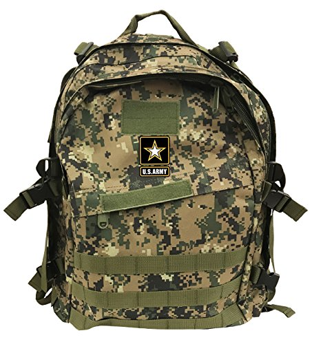 (US Army Military Tactical Assault Backpack Rucksack Molle Daypack 40-Liter (Digital Green))