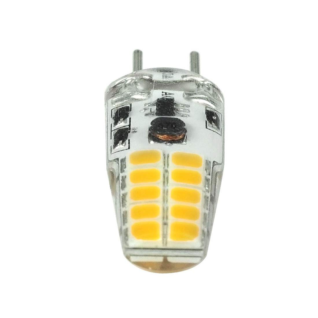 MENGS 2 Pack Flicker-Free GY6.35 3W LED Light with Silicone Material Warm White 20X2835 SMD AC//DC 12V