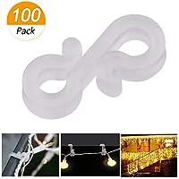 Meetory - 100 ganchos de plástico para canalones