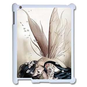 Diy Fairy Girl Phone Case for iPad 2 3 4 White Shell Phone JFLIFE(TM) [Pattern-1]
