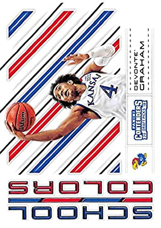 9b040740dad 2018-19 Panini Contenders Draft Picks Basketball School Colors #31 Devonte' Graham  Kansas