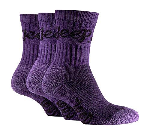Jeep Women's Luxury Terrain Socks, Purple, One Size
