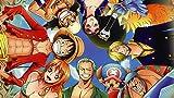 Athah Designs Anime One Piece Franky Nami Zoro Roronoa Tony Tony Chopper Sanji Brook Nico Robin Usopp Monkey D. Luffy 13*19 inches Wall Poster Matte Finish
