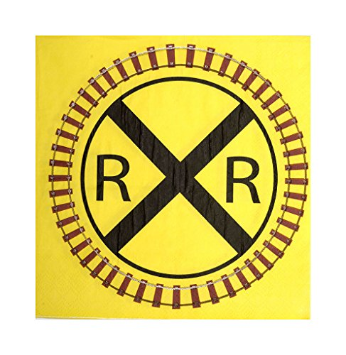 Faerynicethings Railroad Party Ware Separates - Railroad Lunch Napkins -
