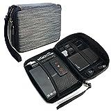 Tuff-Luv Electronics Accessories Travel Organizer / Gadget Bag - Grey Stripe