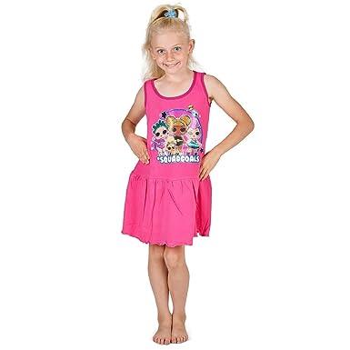 check out b740a ba2bc LOL Surprise ! Abito per Ragazze   LOL Abbigliamento Bambina   Abito da  Ragazza Rosa Senza Maniche   Vestiti Estivi per Bambini 100% Cotone    Regali ...