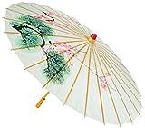 "35"" Japanese Geisha Girl Paper Parasol Costume Umbrella"