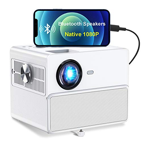 Bluetooth Projector, TOWOND HD 1080P-videoprojector met 7000 lumen en ingebouwde stereoluidsprekers, compatibel met USB…