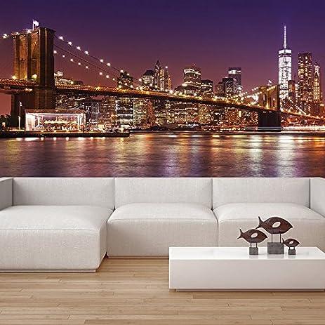 Amazoncom Brooklyn Bridge Wall Mural New York Cityscape Photo