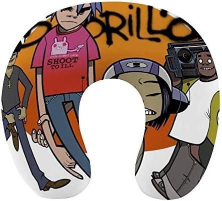 Gorillaz ゴリラズ(35)ネックピロー U型まくら 携帯枕 携帯収納便利 ネック枕 オフィス 飛行機 新幹線 出張