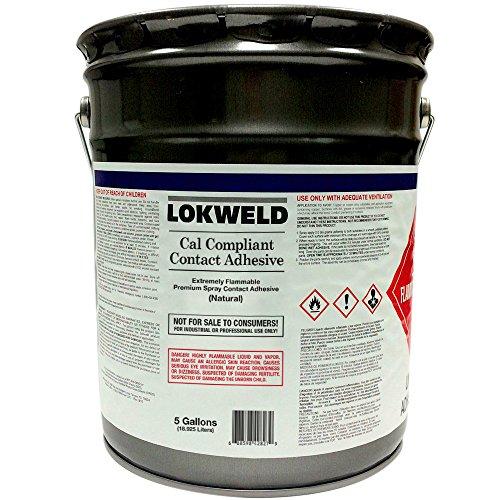 Lokweld Cal Compliant Contact Adhesive - 5 Gallon (Neoprene Seal Cement)