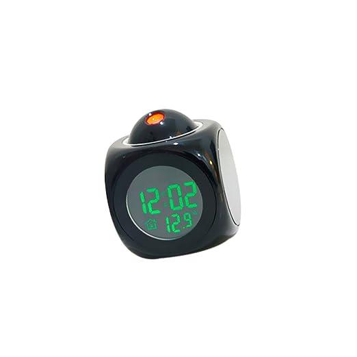 Relojes de Proyector LED Muestra Tiempo Temperatura en Voz Alarma ...