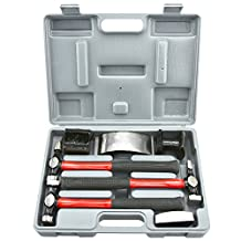 Neiko 20709A Heavy Duty Auto Body Hammer and Dolly Kit, 7-Piece