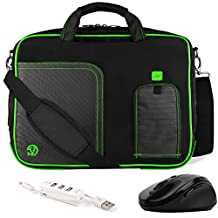 VanGoddy Pindar Lime Green Messenger Bag w/ USB HUB and Wireless Mouse for ASUS Transformer Book / ZenBook / ChromeBook / 13.3inch Laptops
