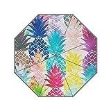 LiFei Business Hawaiian Pineapple Pattern Tropical Custom Umbrella