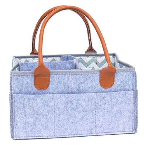 Baby Diaper Caddy and Portable Car Travel Organizer - Nursery Storage Perfect Baby Registry Gift