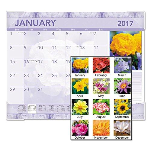 UPC 641438143954, Antique Floral Monthly Desk Pad Calendar, 22 x 17, Jan-Dec 2017 (12 Month)