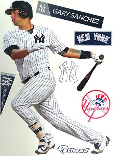 Gary Sanchez FATHEAD New York Yankees Logo Set Official MLB Vinyl Wall Graphics 17