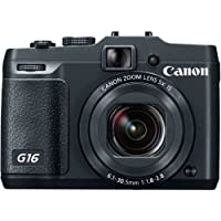 Canon PowerShot G16 12.1 MP CMOS Digital Camera with 5x Optical Zoom and 1080p Full-HD Video Wi-Fi Enabled