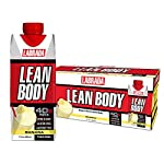 Lean Body Ready-to-Drink Banana Protein Shake, 40g Protein, Whey Blend, 0 Sugar, Gluten Free, 22 Vitamins & Minerals, (Recyclable Carton & Lid – Pack of 12) LABRADA