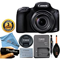 Canon Powershot SX60 16.1MP Digital Camera 65x Optical Zoom Lens 3-inch LCD Tilt Screen (Black) with Lens Cleaning Pen + 3 Year Worldwide Warranty - International Version