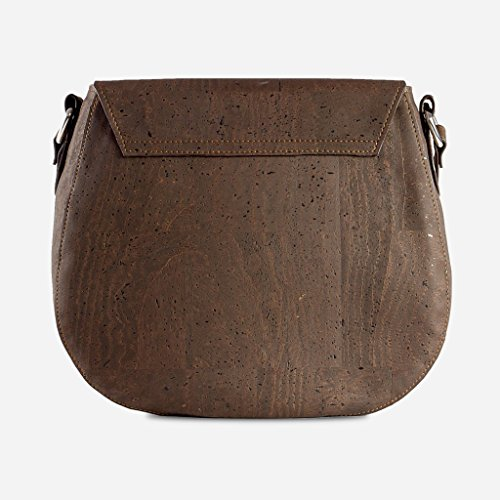 Leather Crossbody Purse Saddle Vegan Cork for Sustainable Women Corkor Bag Gift Brown wdW86Inq6X