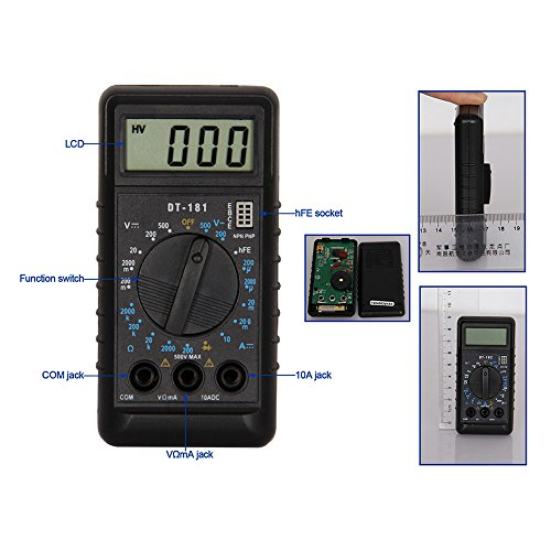 OLSUS DT181 LCD Handheld Digital Multimeter for Home and Car - Black + White by OLSUS (Image #5)
