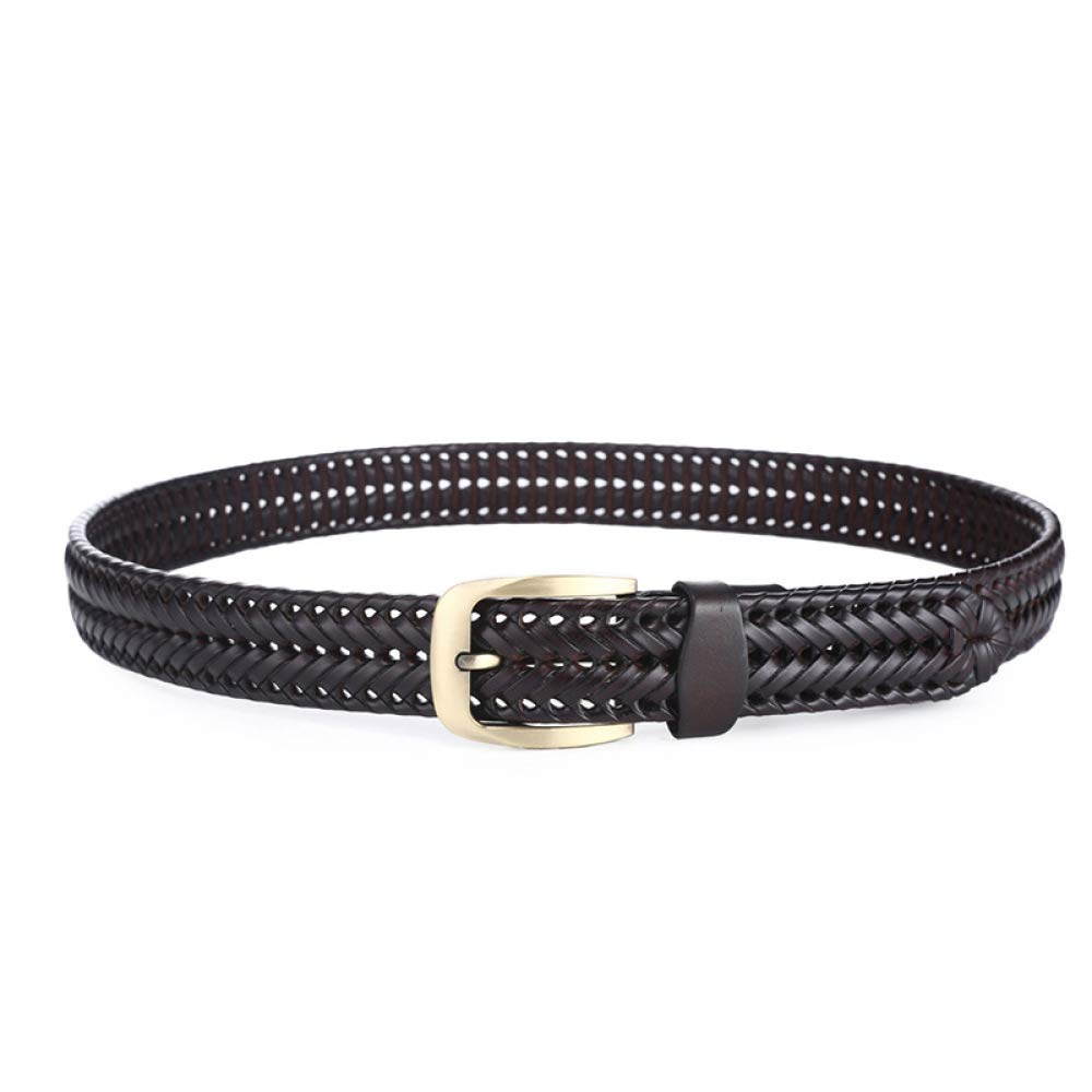 115 cm BK0 Cintur/ón Trenzado Cinturones Hechos a Mano para Hombres Y Mujeres,Cuero,Trenzado,Cintur/ón Vintage,Cintur/ón de Jeans Apto para Hombres//marr/ón