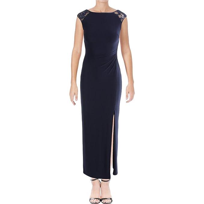 b94e41eaf88 Lauren Ralph Lauren Womens Petites Dulcenetta Sequin Evening Dress Navy 4P
