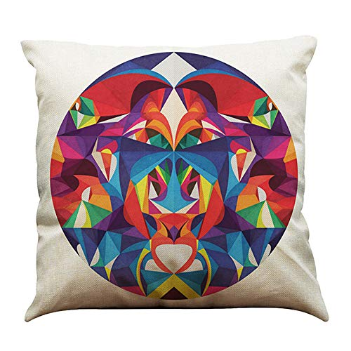 Yvelands cojín, diseño geométrico Cuadrado Almohada Suave ...