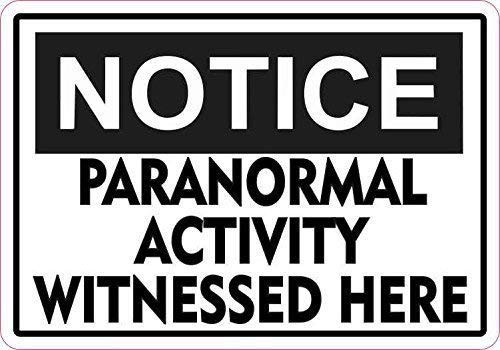 Metal Sign Talk 8x12 inch Notice Paranormal Activity Metal Sign Aluminum Metal Signs Halloween Sign ()