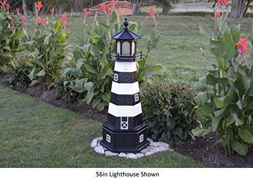 Amish Made Lighthouse Cape (Amish-Made Cape Canaveral, FL Replica Lighthouse with Base, 70