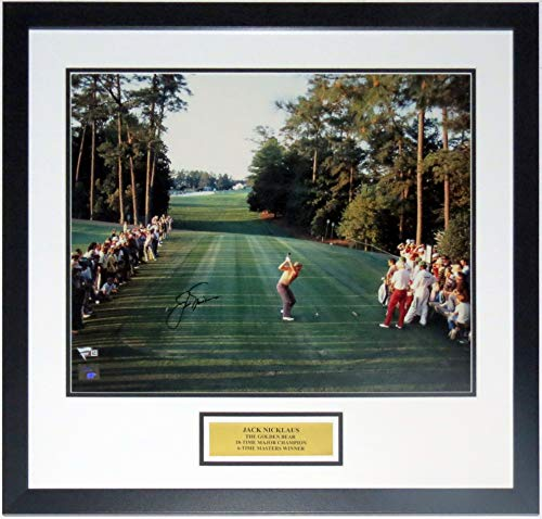 Jack Nicklaus Signed 1986 Masters Augusta 18th Hole 16x20 Photo - Fanatics COA Authenticated - Professionally Framed & Plate