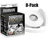 White Finger Tape (8 Pack) - Athletic Tape | 0.3' x 45 Feet - for Rock Climbing, BJJ Jiu Jitsu, Grappling, MMA, Crossfit and Martial Arts by Hampton Adams