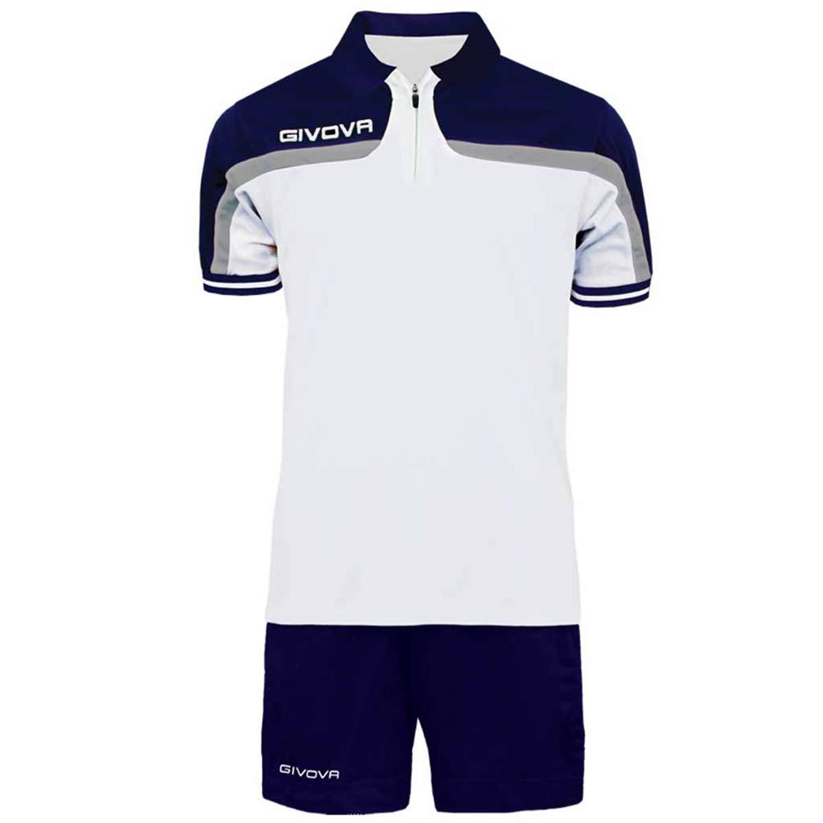 Giosal - Traje Completo Givova Kit Fast Polo, pantalón Corto Azul ...