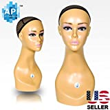 18'' Female Life size Mannequin Head for Wigs, Hats, Sunglasses Jewelry Display B1