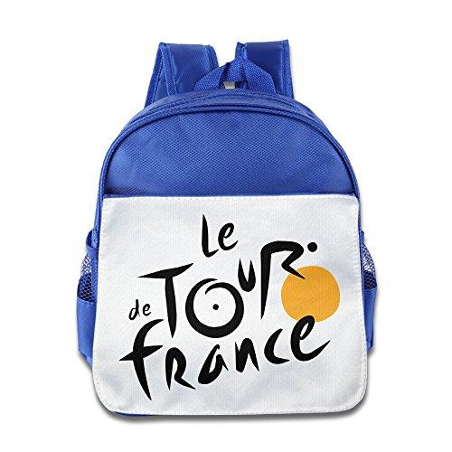 MoMo Unisex Tour De France Boy Girl School Backpack For Little Kids (Nuclear Laptop Bag)