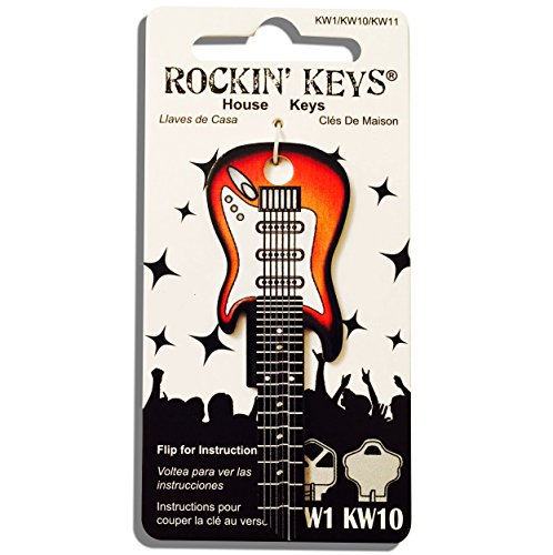 - Sunburst Electric Guitar Shaped Rockin' Key Kwikset KW1 KW10