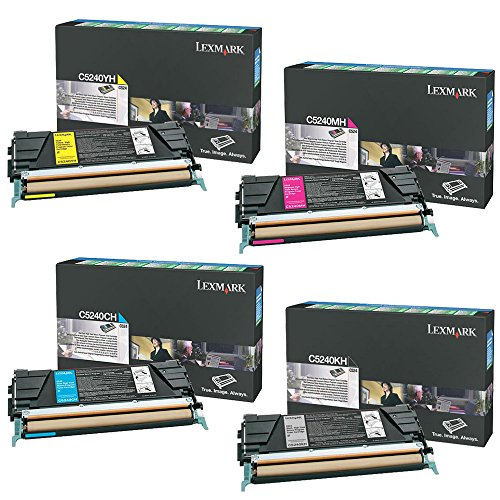 Yield Extra C534 High - Lexmark C5240KH, C5240CH, C5240MH, C5240YH High Yield Toner Cartridge Set