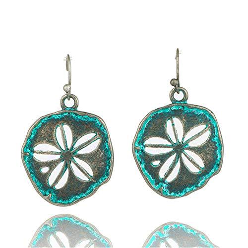 Bohemian Earrings Jewelry Metal Water Drop Earrings for Women Boho Flowers Tassel Earring42B