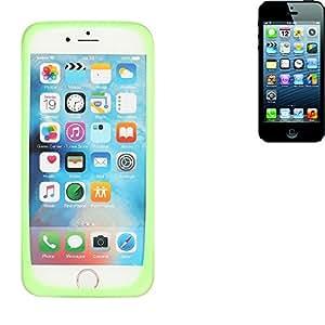 parachoques silicio / caso del anillo por Apple iPhone 5, verde | cubierta de TPU marco protector caucho de protección - K-S-Trade (TM)