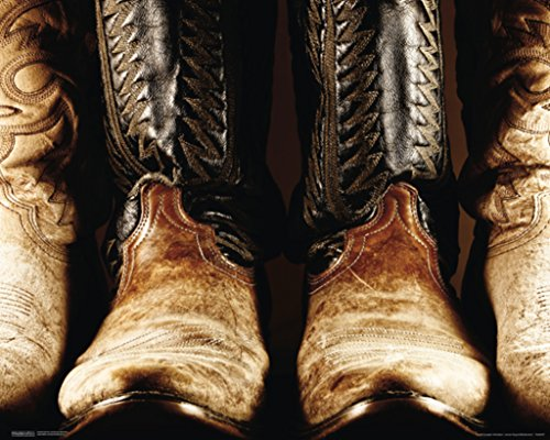 Pyramid America Old Boots Broken In Cowboy Rodeo Western Wea