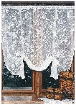 Heritage Lace English Ivy 48-Inch Wide by 63-Inch Drop Drape Shade, Ecru