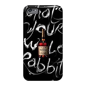 Perfect Cell-phone Hard Covers For Apple Iphone 6s With Unique Design Trendy Hennessy Bottle Series Casesbest88